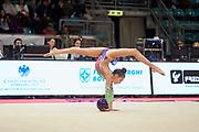 Alessia Leone from Eurogymnica Torino team during the Italian Rhythmic Gymnastics Championship in Bologna, 9 February 2019.