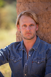 blond man with blue eyes