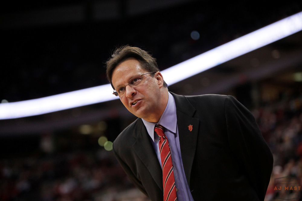 06 January 2010: Indiana head coach Tom Crean as the Ohio State Buckeyes played the Indiana Hoosiers in a college basketball game in Columbus, OH.