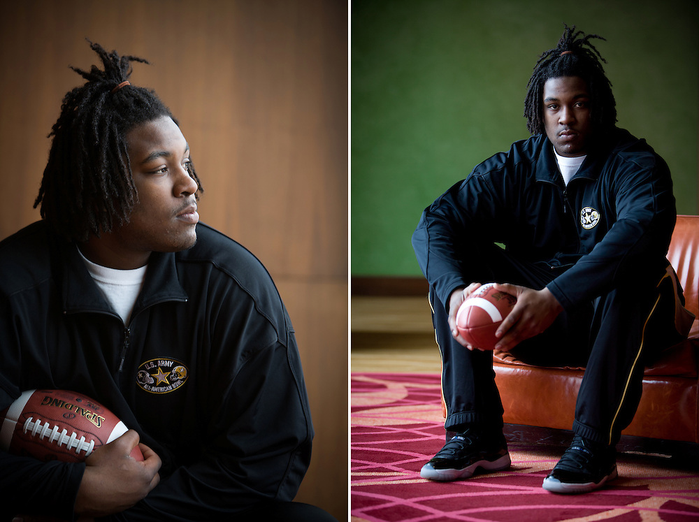 Seantrel Henderson, a 6-foot-8, 340-pound left tackle from St. Paul, Minnesota, is considered by most analysts the nation's top high-school football recruit of 2010. Henderson made the USA Today All-American First-Team in 2008 and 2009 and was named the 2009 Offensive Player of the Year, the first lineman to win the award in its 28-year history.