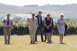 The Duchess of Cornwall and the Prince of Wales as they visit Dyfed Shire Horse Farm in Eglwyswrw in Pembrokeshire, Wales.