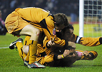 Photo: Dave Linney.<br />Derby County v Wolverhampton Wanderers. Coca Cola Championship. 18/11/2005. Vio Ganea celebrates his goal to make it 3-0 to Wolves