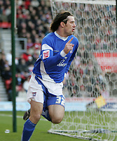 Photo: Lee Earle.<br /> Southampton v Ipswich Town. Coca Cola Championship. 21/01/2006. Alan Lee celebrates his opening goal for Ipswich.