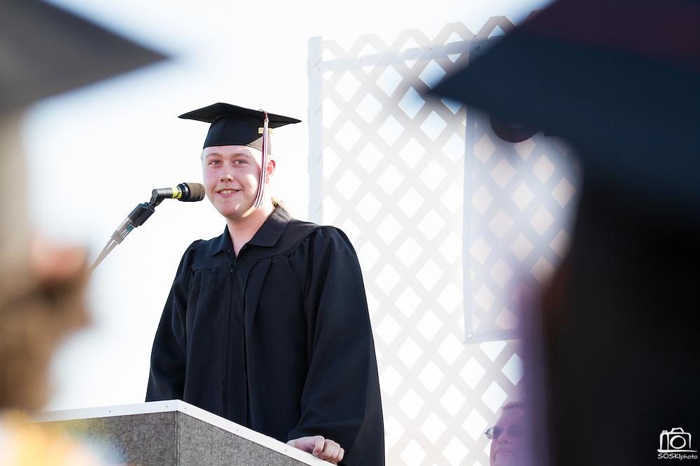 Cal Hills senior Justin Griffin remembers making friends and finding success at Cal Hills during graduation on June 15, 2012.  Photo by Stan Olszewski/SOSKIphoto.