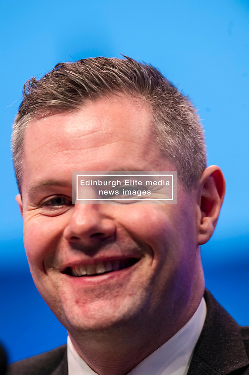 Pictured: Derek Mackie, MSP , Cabinet Secretary for Finance and the Constitution,<br /> The members of the SNP gathered in the Scottish Events Centre in Glasgow for their annual conference.<br /> <br /> Ger Harley | EEm 8 October 2017