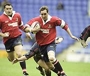 Reading. England. UK.  Jon GOODRIDGE. Premiership Rugby. London Irish vs Gloucester Rugby. 16.04.2001. Madejski Stadium. <br /> <br /> [Mandatory Credit, Peter Spurrier/ Intersport Images].