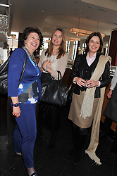 Left to right, ISOBEL, COUNTESS OF STRATHMORE, JO LASCELLES and MINNIE CECIL at a ladies lunch in support of Maggie's Barts hosted by Judy Naake, Clara Weatherall and Caroline Collins at Le Cafe Anglais, 8 Porchester Gardens, London W2 on 19th March 2013.