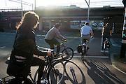 Fietsers bij oversteekplaats - Cyclists at a crossing
