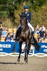 KLIMKE Ingrid (GER), Franziskus 15<br /> Longines Großer Optimum Preis <br /> präsentiert von das Meggle GmbH & Co. KG<br /> Nat. Dressurprüfung Kl. S**** - Grand Prix Kür <br /> Finale Deutsche Meisterschaften<br /> Balve Optimum - Deutsche Meisterschaft Dressur 2020<br /> 20. September2020<br /> © www.sportfotos-lafrentz.de/Stefan Lafrentz