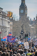 Unite for Europe march attended by thousands on the weekend before Theresa May triggers article 50. The march went from Park Lane via Whitehall and concluded with speeches in Parliament Square.