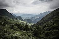 Mountainous landscape in Nam Pam Commune, Son La Province, Vietnam, Southeast Asia