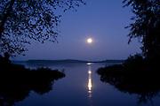 Full moon over Big Sandy River