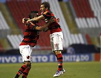 20111009: RJ, BRAZIL -  Football match between Flamengo and Fluminense at Engenhao stadium in Rio de Janeiro. In picture Flamengo teammates celebrate goal<br /> PHOTO: CITYFILES