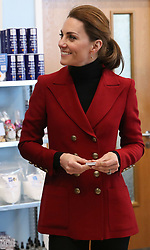 The Duchess of Cambridge during a visit to Halen Mon Anglesey Sea Salt, a thriving local business which has been operating for over two decades, as part of her visit to North Wales.