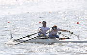 Poznan, POLAND,   GBR TAMix2x, bow James ROBERTS and Samantha SCOWEN,  competing in the  repehage, on the third  day of the, 2009 FISA World Rowing Championships. held on the Malta Rowing lake,Tuesday  25/08/2009  [Mandatory Credit. Peter Spurrier/Intersport Images] ; Adaptive.