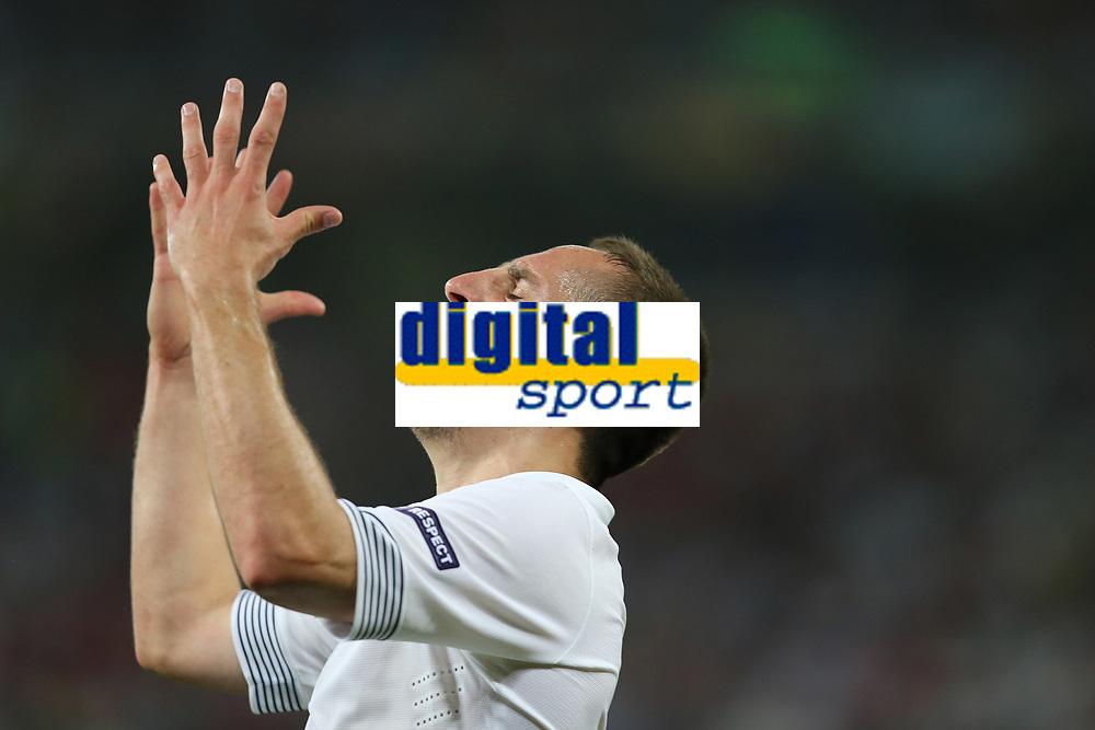 FOOTBALL - UEFA EURO 2012 - DONETSK - UKRAINE  - 1/4 FINAL - SPAIN v FRANCE - 23/06/2012 - PHOTO PHILIPPE LAURENSON /  DPPI - FRANCK RIBERY (FRA)