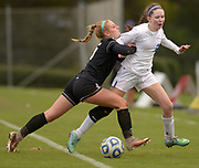 White House sophomore Mackenzie Tabb is pushed out by Greeneville junior Kelsey Jones as White House wins 1-0 in the Class AA state soccer championship Saturday at Richard Siegel Soccer Complex in Murfreesboro, Tenn.