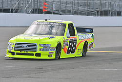 June 22, 2018 - Madison, Illinois, U.S. - MADISON, IL - JUNE 22:  Matt Crafton (88) driving a Ford for Menards warms up before the Camping World Truck Series - Eaton 200 on June 22, 2018, at Gateway Motorsports Park, Madison, IL.   (Photo by Keith Gillett/Icon Sportswire) (Credit Image: © Keith Gillett/Icon SMI via ZUMA Press)