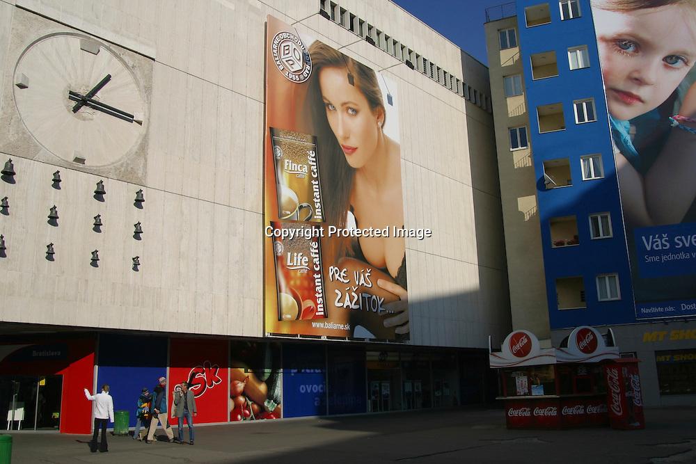 advertisement on Bratislava, slovakia