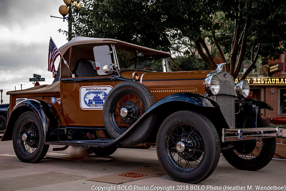 1929 Ford Model A pickup owned by Jeff Mahl, great grandson of George Schuster--the man who won the 1908 race for the USA