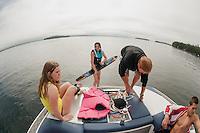 Bradley water ski session with Mike Morin.  Karen Bobotas Photographer
