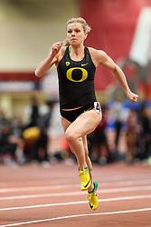 Don Kirby Invitational Indoor Track & Field<br /> Albuquerque, NM, Feb 14, 2020<br /> womens 60m heats Oregon