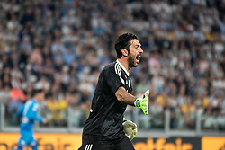 April 22, 2018 - Turin, Piedmont/Turin, Italy - Gianlugi Buffon (Juventus FC) durig the Serie A match Juventus FC vs Napoli. Napoli won 0-1 at Allianz Stadium, in Turin, Italy 22nd april 2018 (Credit Image: © Alberto Gandolfo/Pacific Press via ZUMA Wire)