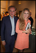 PHILIP MOULD, EDITE LIGERE  The preview of LAPADA Art and Antiques Fair. Berkeley Sq. London. 23 September 2014.