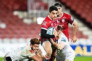 Santiago Carreras of Gloucester Rugby during the Gallagher Premiership Rugby match between Gloucester Rugby and Exeter Chiefs at the Kingsholm Stadium, Gloucester, United Kingdom on 26 March 2021.
