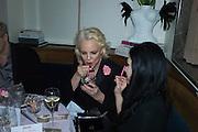 AMANDA ELIASCH; NEFER SUVIO, Nicky Haslam hosts dinner at  Gigi's for Leslie Caron. 22 Woodstock St. London. W1C 2AR. 25 March 2015