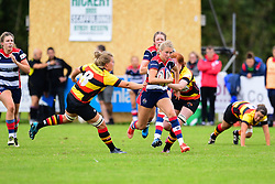 Charlotte Holland of Bristol Ladies evades the tackle of Claire Phelps of Richmond ladies - Mandatory by-line: Craig Thomas/JMP - 17/09/2017 - Rugby - Cleve Rugby Ground  - Bristol, England - Bristol Ladies  v Richmond Ladies - Women's Premier 15s