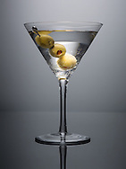 Dedham, MA 04/04/2014<br /> Tito's Vodka Martini, three olives.<br /> Alex Jones / www.alexjonesphoto.com