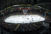 KELOWNA, BC - SEPTEMBER 29:  A sold out  Prospera Place on September 29, 2018 as the Vancouver Canucks take on the Arizona Coyotes in the final preseason game in Kelowna, Canada. (Photo by Marissa Baecker/NHLI via Getty Images)  *** Local Caption ***