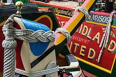 2015-05-03 Narrowboats gather in Little Venice, London, for annual Canalway Cavalcade.