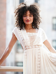EXCLUSIVE: Trans model Indya Moore is pictured at the Haven Rooftop bar on May 29, 2018. Moore stars in the new FX show Pose. ***NO NEW YORK DAILY NEWS, NO NEW YORK TIMES, NO NEWSDAY***. 29 May 2018 Pictured: Indya Moore. Photo credit: Annie Wermiel/NY Post / MEGA TheMegaAgency.com +1 888 505 6342