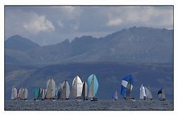 The final days racing at the Bell Lawrie Yachting Series in Tarbert Loch Fyne ..The overall winners were decided in most classes on the last days racing...IRC Classes one & Two downwind under Arran.
