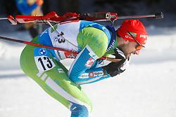 Fak Jakov of Slovenia competes during the IBU World Championships Biathlon Single Mixed Relay competition on February 18, 2021 in Pokljuka, Slovenia. Photo by Vid Ponikvar / Sportida