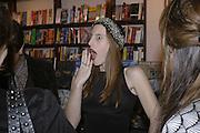 Liz Goldwyn, Book launch of Pretty Things by Liz Goldwyn at Daunt <br />Books, Marylebone High Street. London 30 November 2006.   ONE TIME USE ONLY - DO NOT ARCHIVE  © Copyright Photograph by Dafydd Jones 248 CLAPHAM PARK RD. LONDON SW90PZ.  Tel 020 7733 0108 www.dafjones.com
