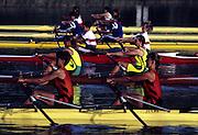 Barcelona Olympics 1992 - Lake Banyoles, SPAIN, Heat W2X, W2X.Josephina de GROOT and Rita De JONG Lake Banyoles, SPAIN,[Mandatory Credit; Peter Spurrier Intersport Images]