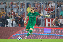 MUNICH, GERMANY - Tuesday, August 1, 2017: Liverpool's goalkeeper Loris Karius during the Audi Cup 2017 match between FC Bayern Munich and Liverpool FC at the Allianz Arena. (Pic by David Rawcliffe/Propaganda)