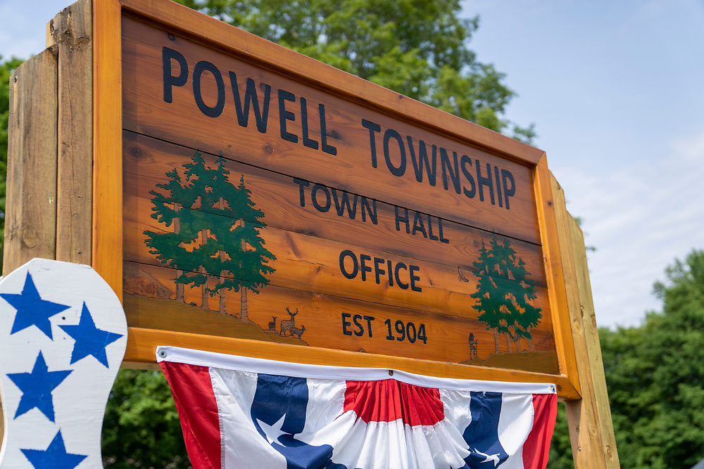 Powell Township Townhall offices in Big Bay, Michigan.