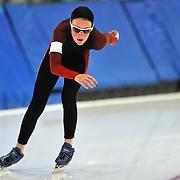 September 18, 2010 - Kearns, Utah - Lucy Biles races in long track speedskating time-trials held at the Utah Olympic Oval.