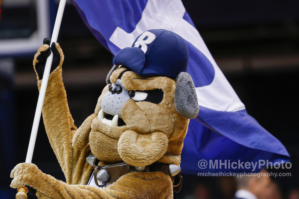 INDIANAPOLIS, IN - DECEMBER 28: The Butler Bulldogs mascot is seen during the game against the Belmont Bruins at Hinkle Fieldhouse on December 28, 2014 in Indianapolis, Indiana. (Photo by Michael Hickey/Getty Images)