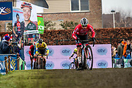 2019-12-27 Cycling: dvv verzekeringen trofee: Loenhout: Loris Rouiller taking the lead on the washboard
