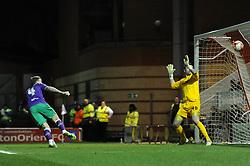 Bristol City's Aden Flint scores a goal. - Photo mandatory by-line: Dougie Allward/JMP - Mobile: 07966 386802 - 03/03/2015 - SPORT - football - Leyton - Brisbane Road - Leyton Orient v Bristol City - Sky Bet League One