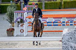 Vrieling Jur, NED, It's Highlander VDK<br /> Nationaal Kampioenschap KWPN<br /> 7 jarigen springen round 2<br /> Stal Tops - Valkenswaard 2020<br /> © Hippo Foto - Dirk Caremans<br /> 18/08/2020
