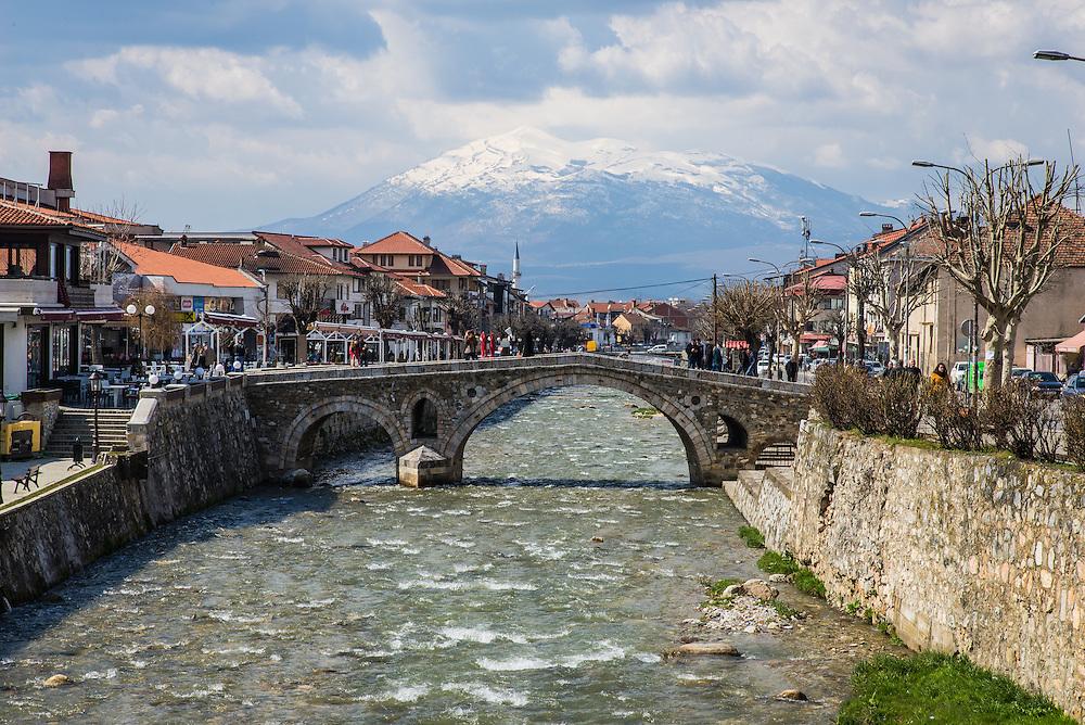 The 15th century stone bridge in the city of Prizren