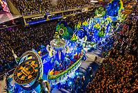 Floats in the Carnaval parade of Unidos de Vila Isabel samba school in the Sambadrome, Rio de Janeiro, Brazil.