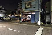 residential neighborhood at night Japan