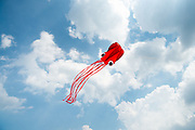 An octopus kite flies over the Belle Isle Kite Festival at Belle Isle State Park in Detroit, Mich. on July 15, 2018.<br /> <br /> Credit: Cameron Pollack / Detroit Free Press